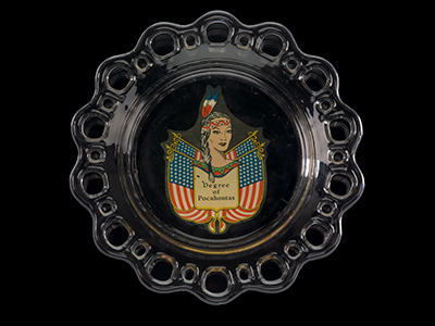 Degree of Pocahontas decorative plate, 1950–70