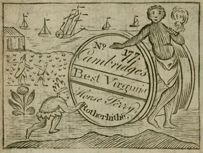 Cambridge's Best Virginia tobacco label, n.d.