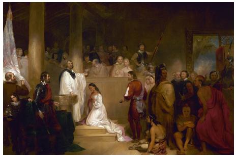Baptism of Pocahontas, 1839
